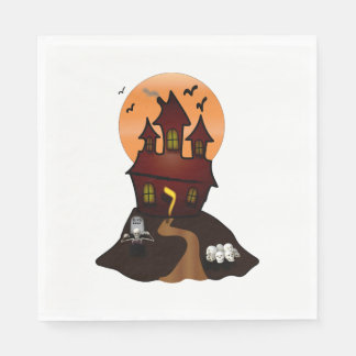 Spuk Haus-Halloween-Party-Servietten Servietten