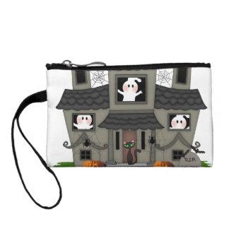 Spuk Haus Halloweens Kleingeldbörse