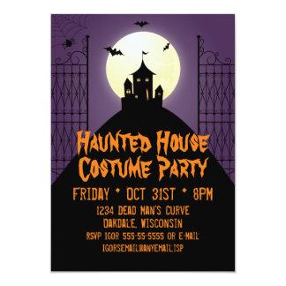 Spuk Haus-Kostüm-Party Halloween 12,7 X 17,8 Cm Einladungskarte
