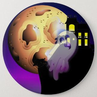 Spuk Haus, Mond und Geist Runder Button 15,3 Cm