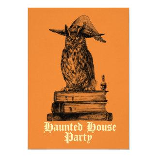 Spuk Haus-Party-Hexeeule kundengerecht 12,7 X 17,8 Cm Einladungskarte
