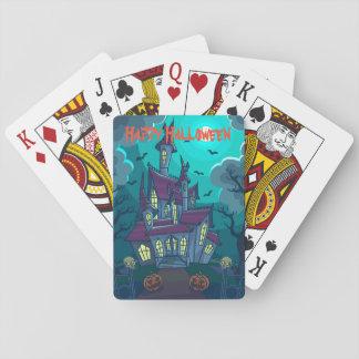 Spuk Haus-Spielkarten Halloweens Spielkarten