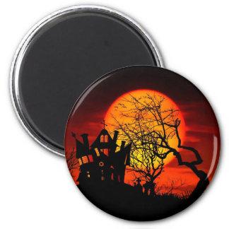 SPUK NACHT, SPUK HAUS! (Halloween) ~ Runder Magnet 5,1 Cm