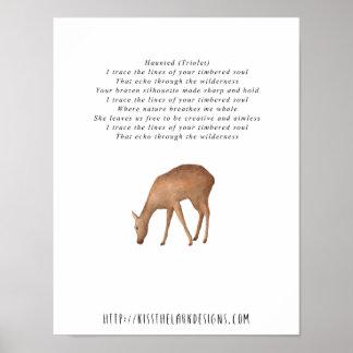 Spuk - Poesie 8,5 x 11 bedruckbar Poster