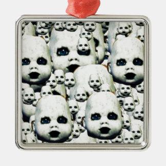 Spuk Puppenprodukte des beängstigenden kleinen Quadratisches Silberfarbenes Ornament