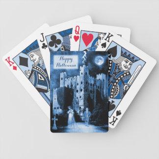 Spuk Schloss gotisches glückliches Halloween Bicycle Spielkarten
