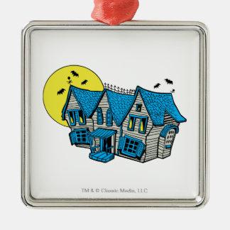 Spuk Villa Quadratisches Silberfarbenes Ornament