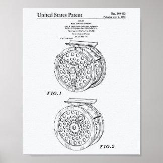 Spule für Patent-Kunst altes Peper des Poster