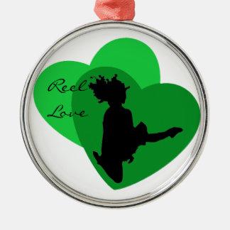 Spulen-Liebe - Iren-Tanz Silbernes Ornament