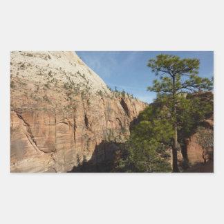 Spur zu den Engeln, die in Zion Nationalpark Rechteckiger Aufkleber