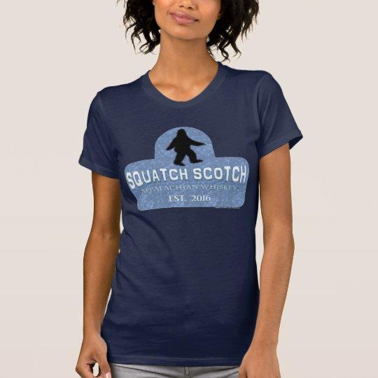 Squatch schottischer blauer Aufkleber T-Shirt