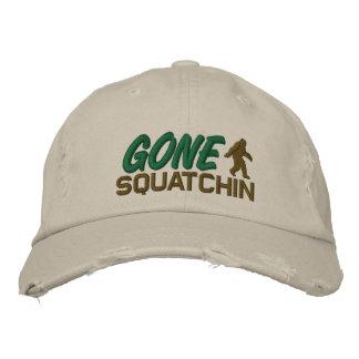 Squatchin allé - blanc et vert noirs chapeaux brodés