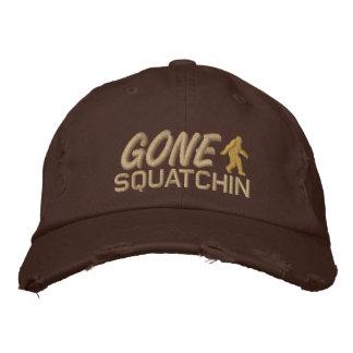 Squatchin allé - brun foncé et se bronzent casquettes de baseball brodées