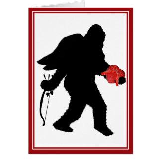 Squatchin in Ihr Herz - glücklicher Valentinstag Grußkarte