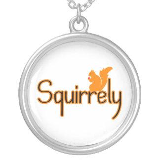 Squirrely Eichhörnchen Versilberte Kette