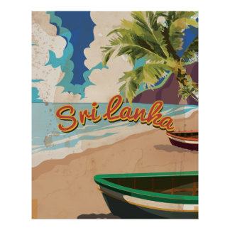 Sri Lanka Vintages Ferien-Reise-Plakat Poster