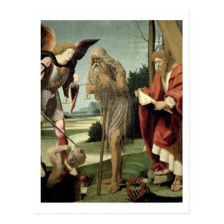 SS. Michael, Andrew und Onuphrius (Öl auf Platte) Postkarte