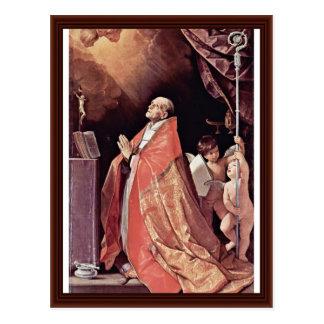 St Andrew Corsini im Gebet durch Reni Guido Postkarte
