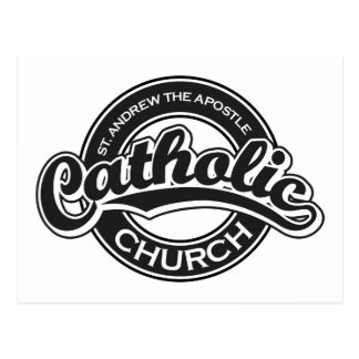 St Andrew das Apostel-katholische Kirchen-Schwarze Postkarte