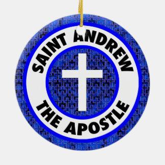 St Andrew der Apostel Rundes Keramik Ornament