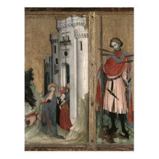 St Andrew, der Dämonen von der Stadt jagt Postkarte