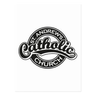 St Andrew katholische Kirchen-Schwarzes Postkarte