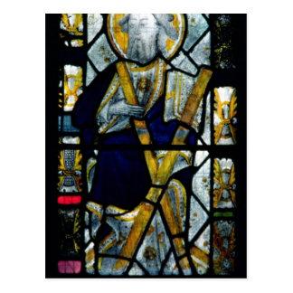 St Andrew mit Saltire Kreuz, britisch Postkarte