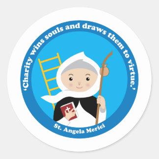 St. Angela Merici Runder Aufkleber