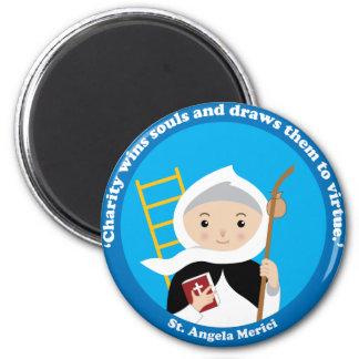 St. Angela Merici Runder Magnet 5,1 Cm