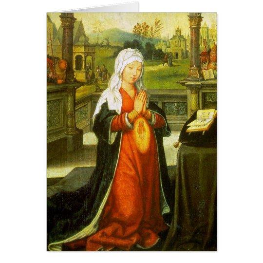 St Anne, welches die Jungfrau Mary begreift Karte