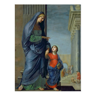 St Anne, welches die Jungfrau zum Tempel führt Postkarte