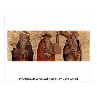 St Anthony, St Jerome, St Andrew durch Carlo Postkarte