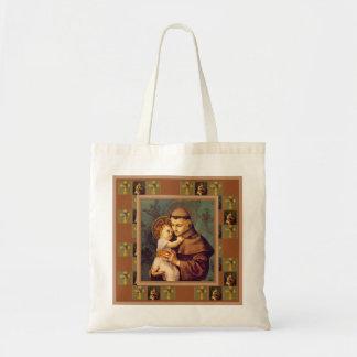St Anthony von Padua mit Baby Jesus Budget Stoffbeutel