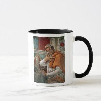 St Augustine in seiner Zelle, c.1480 Tasse