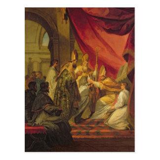 St Augustine ordinierte als der Bischof Postkarte