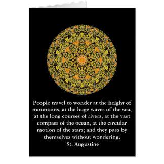 St- Augustinereiseabenteuerzitat Karte