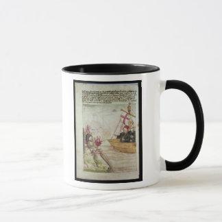 St. Brendan in seinem Schiff Tasse