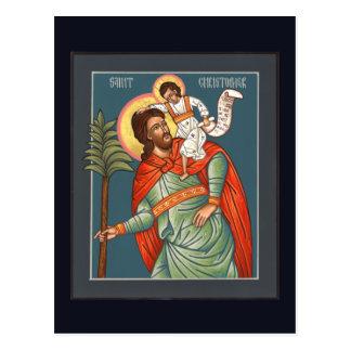 St- Christophergebets-Karte Postkarte