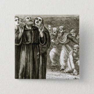 St. Columba, der und angegriffen durch die Druiden Quadratischer Button 5,1 Cm