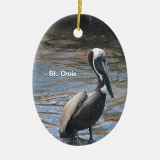 St. Croix Ovales Keramik Ornament
