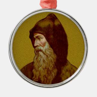 St. Cyril der Mönch (M 002) Silbernes Ornament
