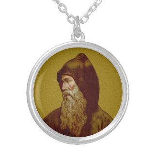 St. Cyril der Mönch (M 002) Versilberte Kette