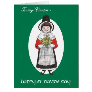 St David Tag, Waliser-Kostüm, für Cousin Riesige Grußkarte