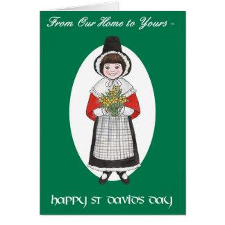 St David Tag, Waliser-Kostüm, unser Zuhause zu Grußkarte