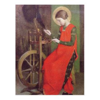St. Elizabeth von Ungarn durch Marianne schürt Postkarte