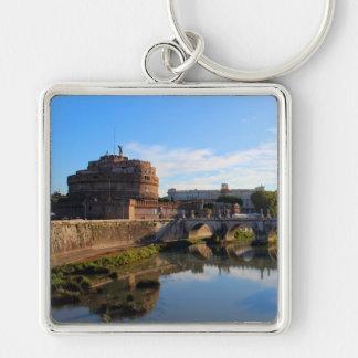 St.-Engels-Schloss und Brücke in Rom, Italien Schlüsselanhänger