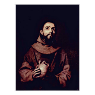 St Francis von Assisi durch Jusepe de Ribera Poster