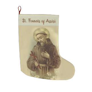 St Francis von Assisi Großer Weihnachtsstrumpf