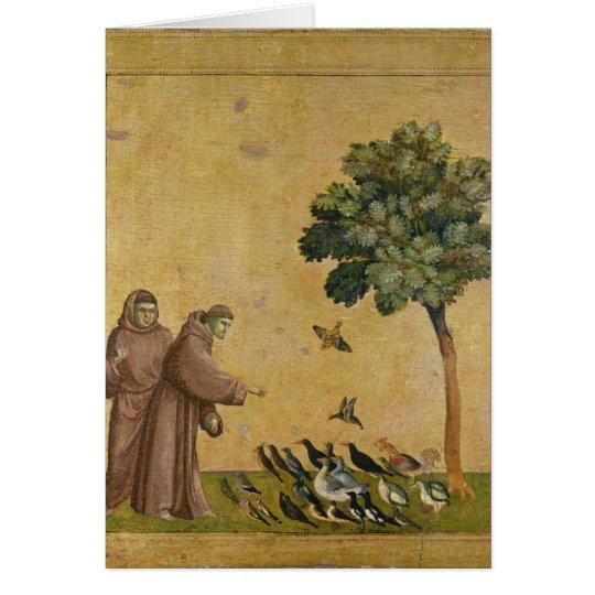 St Francis von Assisi predigend zu den Vögeln Karte