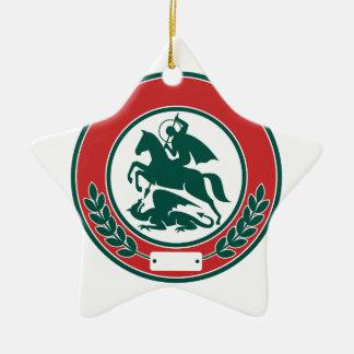 St- GeorgeMords-Drache-Kreis Retro Keramik Ornament
